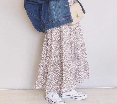 fb4b940ea69847 ティアードロングスカートで春を先取り♡